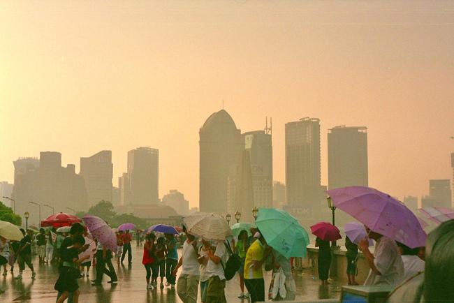 Китай - Шанхай - набережная - фото