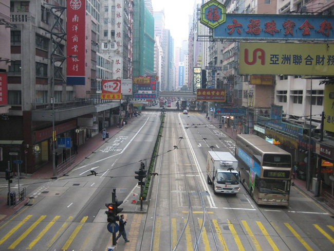 Гонконг - улицы Гонконга - фото