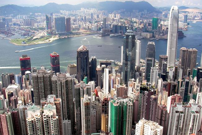 Гонконг - панорама города - фото