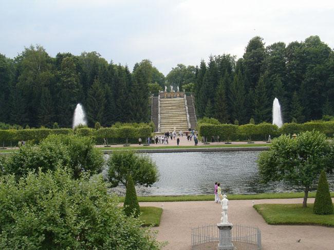 Петергоф - Композиция западной части парка