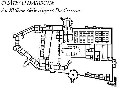 Замки Луары - схема