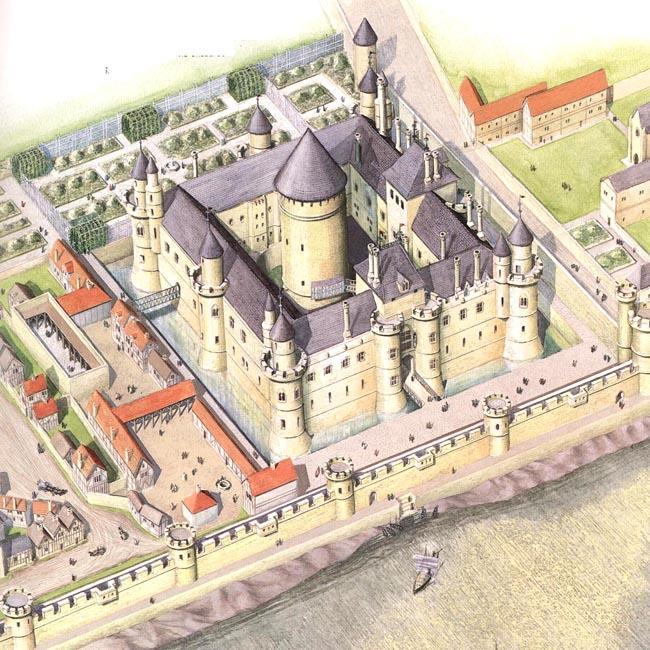 Лувр при Филиппе-Августе - фото