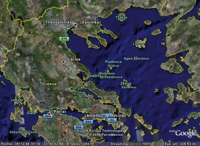 Тасос - остров Греции, фото карты