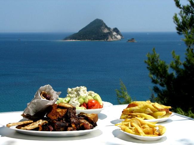 Остров Закинзос, кухня острова