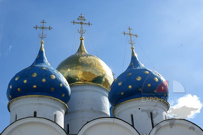 Купола Успенского собора - Троице-Сергиева лавра