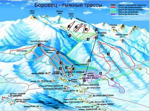 Боровец - лыжные трассы