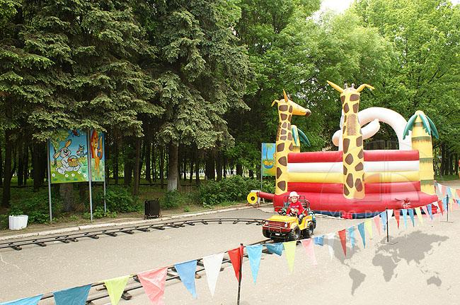 Детский аттракционы - центральный парк Мурома