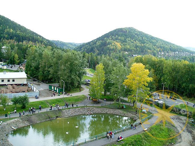 Зоопарк Красноярска с высоты - фото